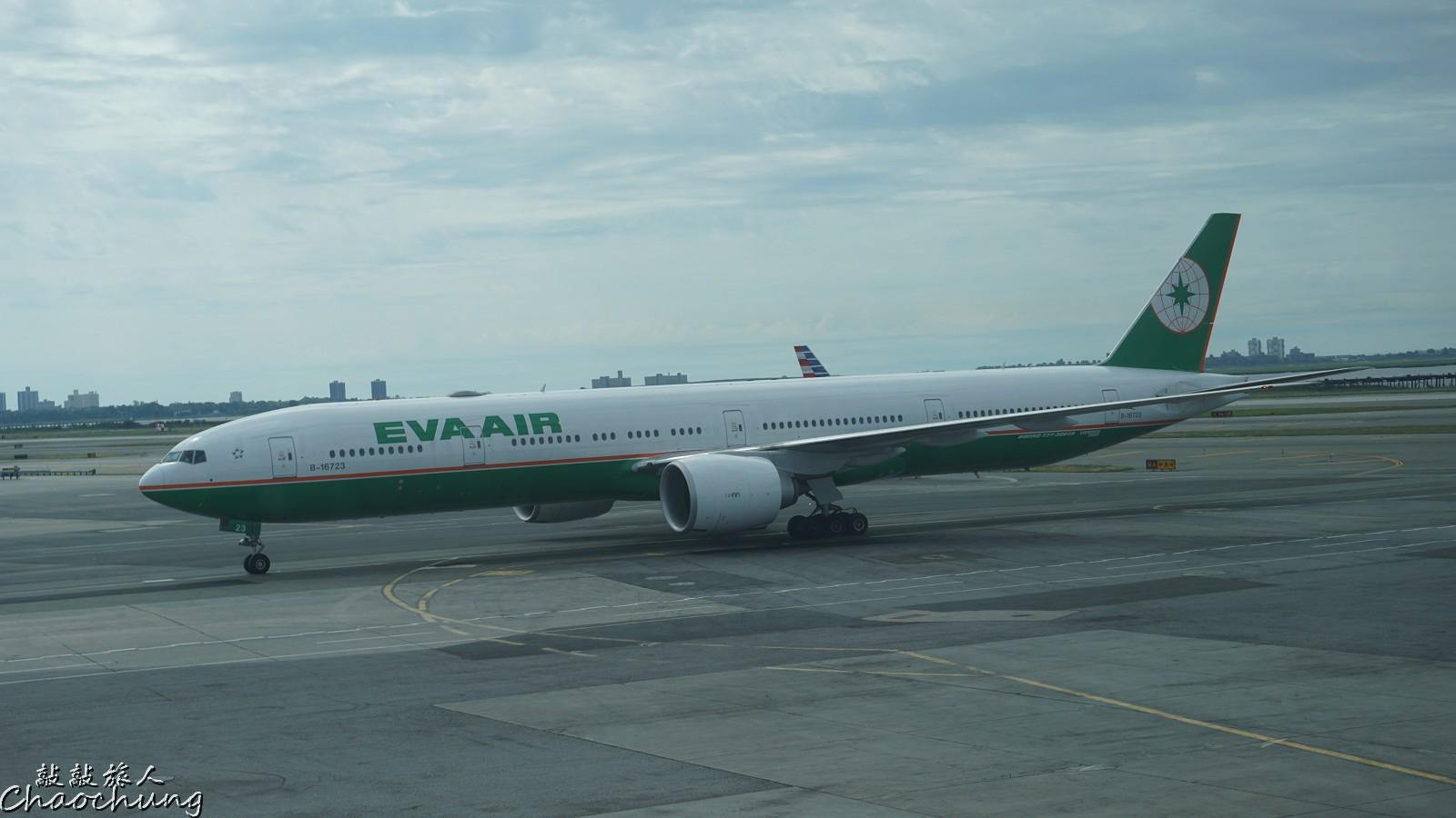 飛行紀錄 2016/8/16 長榮航空 EVA Air 777-300ER 紐約-台北 JFK-TPE